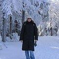 Jolcia w drodze do schroniska na Szyndzielnii - Zima 2006 #szyndzielnia #Klimczok